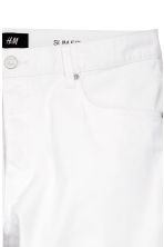 Twill trousers Slim fit - White - Men | H&M 3