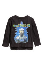 Long-sleeved T-shirt - Black/Iron Maiden - Kids | H&M CN 2