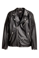 Biker jacket - Black - Men | H&M IE 2