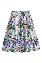 Bell-shaped skirt - White/Floral -  | H&M CN 2