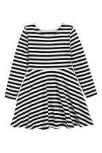 Jersey dress - Black/White/Striped -  | H&M CN 2