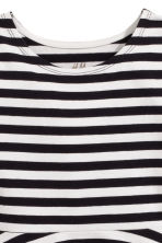 Jersey dress - Black/White/Striped -  | H&M CN 3