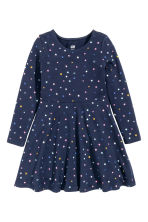 Jersey dress - Dark blue/Stars - Kids | H&M CN 2