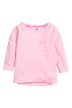 Jersey top - Light pink marl - Kids | H&M CN 2