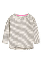 Jersey top - Black/White/Striped - Kids | H&M CN 2