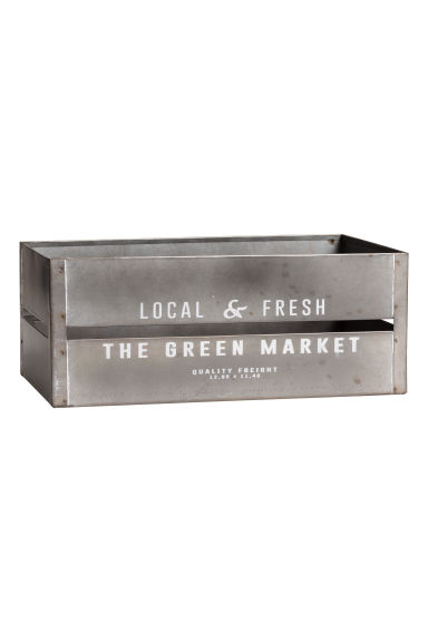 Large metal box - Silver - Home All | H&M CN