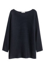 Pullover in maglia a coste - Blu scuro - DONNA | H&M IT 2