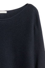 Pullover in maglia a coste - Blu scuro - DONNA | H&M IT 3