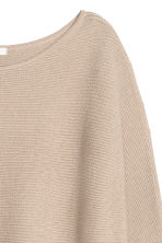 Rib-knit jumper - Light beige - Ladies | H&M 3
