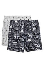 2-pack pyjama shorts - Black/Star Wars - Men | H&M CN 1