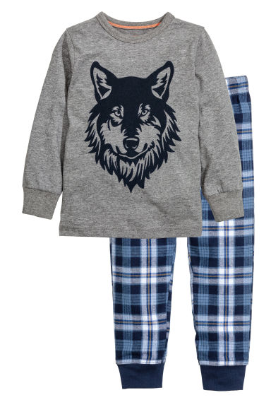 Pyjamas - Dark grey/Wolf - Kids | H&M CN 1