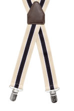 Wide braces - Light beige/Striped - Men | H&M CN 2