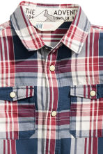 Checked cotton shirt - Dark blue/Checked - Kids | H&M CN 3