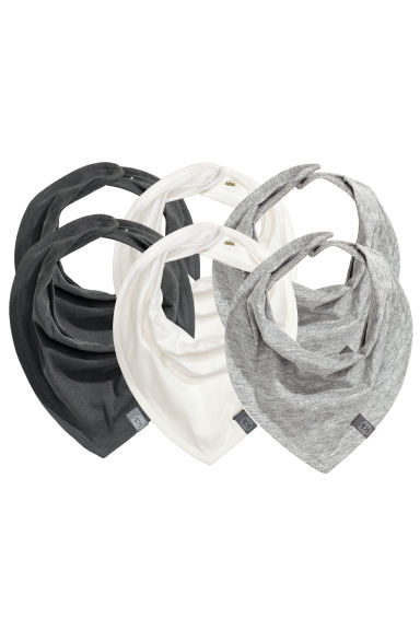 6-pack triangular scarves - White -  | H&M CN 1