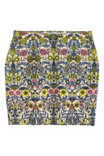 Patterned jersey skirt - Light beige/Floral - Ladies | H&M CN 1