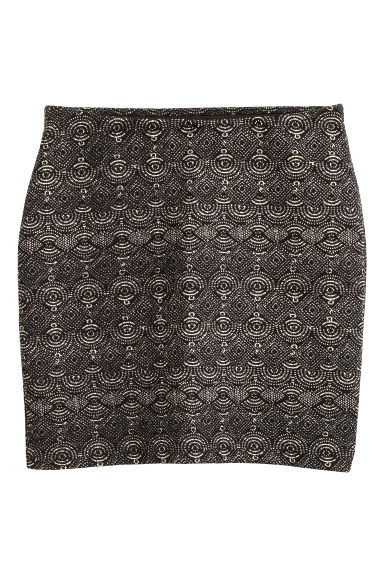 Patterned jersey skirt - Black - Ladies | H&M CN 1