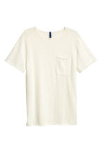 Fine-knit T-shirt - White - Men | H&M CN 2
