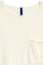 Fine-knit T-shirt - White - Men | H&M CN 3