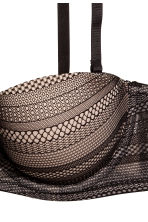 Lace balconette bra - Black/Light beige - Ladies | H&M CN 3