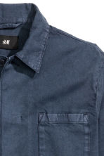 Denim shirt jacket - Dark denim blue -  | H&M CN 3