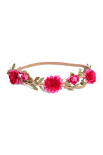 Hairband with flowers - Cerise - Ladies | H&M CN 1