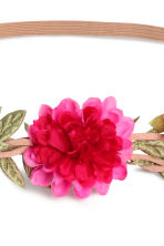 Hairband with flowers - Cerise - Ladies | H&M CN 2
