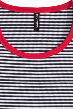 Jersey top - Black/White/Striped - Ladies | H&M CN 3