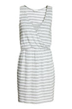 MAMA Nursing dress - Light grey/Striped - Ladies | H&M CN 2