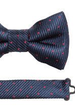Spotted bow tie - Dark blue/Red - Men | H&M CN 3