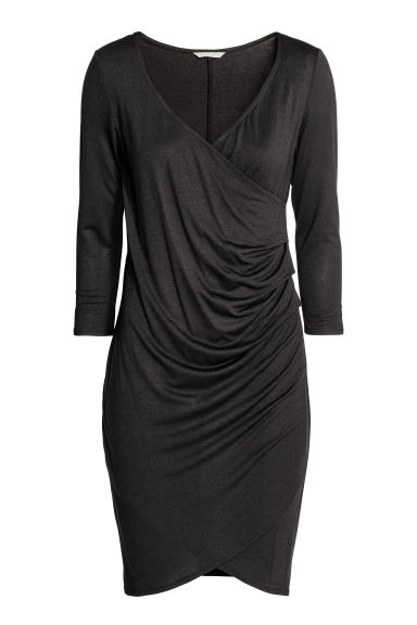 MAMA Draped nursing dress - Black - Ladies | H&M CN 1