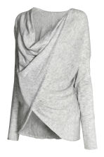MAMA Wrapover jumper - Light grey marl - Ladies | H&M CN 2