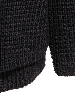 Textured-knit jumper - Black - Men | H&M CN 3