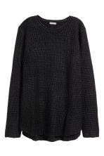 Textured-knit jumper - Black - Men | H&M CN 2