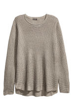 Textured-knit jumper - Mole-grey - Men | H&M 3