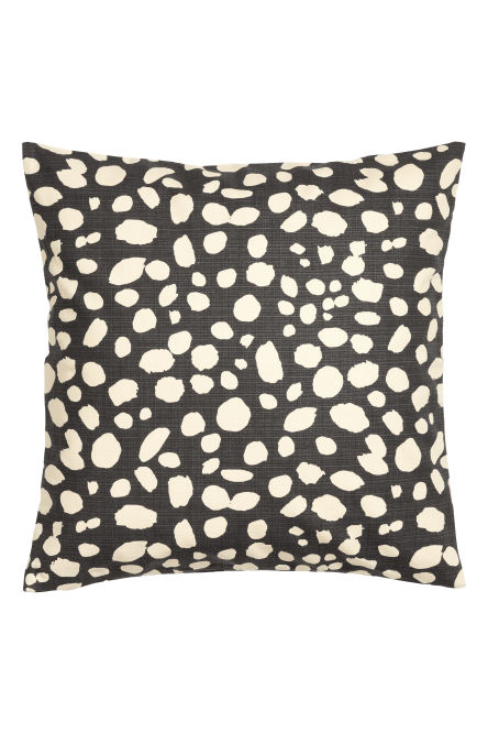 Leopard-print cushion cover