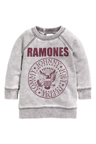 Printed sweatshirt - Light grey/Ramones - Kids | H&M CN 1