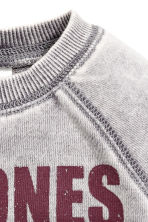 Printed sweatshirt - Light grey/Ramones - Kids | H&M CN 2