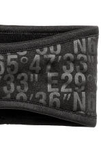 Fleece headband - Black/Text print - Ladies | H&M CN 2