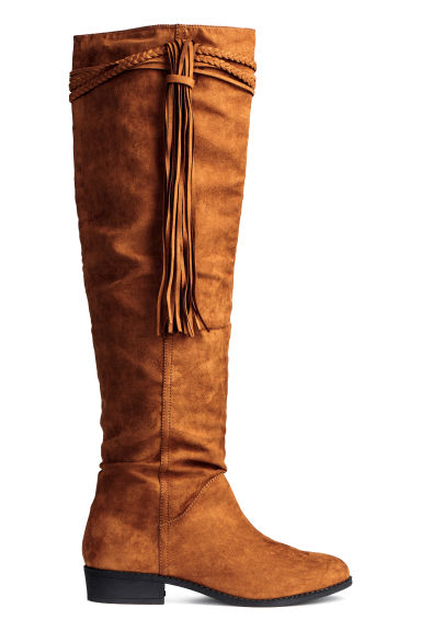 Knee-high boots - Camel - Ladies | H&M CN 1