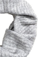 Ribbed tube scarf - Light grey marl - Ladies | H&M 2