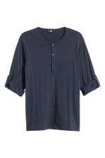Henley shirt - Dark blue - Men | H&M CN 2