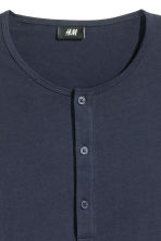 Henley shirt - Dark blue - Men | H&M CN 3