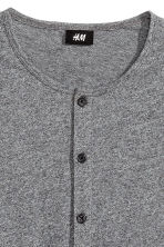 Henley shirt - Dark grey marl - Men | H&M CN 3