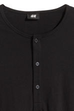 Henley shirt - Black - Men | H&M CN 3