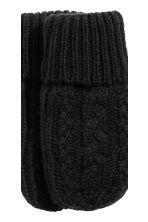 Knitted hat and mittens - Black - Kids | H&M CN 4