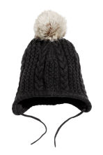 Knitted hat and mittens - Black - Kids | H&M CN 2