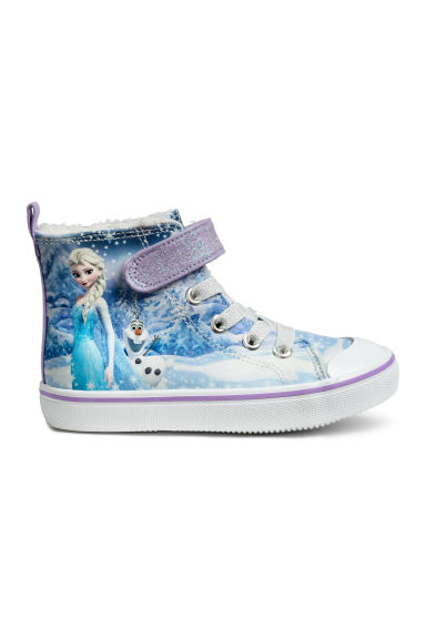 Warm-lined hi-tops - Blue/Frozen - Kids | H&M CN 1