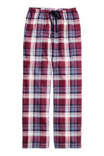 Pantaloni pigiama in flanella - Bordeaux/quadri - DONNA | H&M IT 2