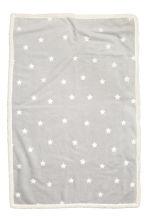 Star-print blanket - Light grey - Home All | H&M CN 2