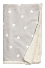 Star-print blanket - Light grey - Home All | H&M CN 1